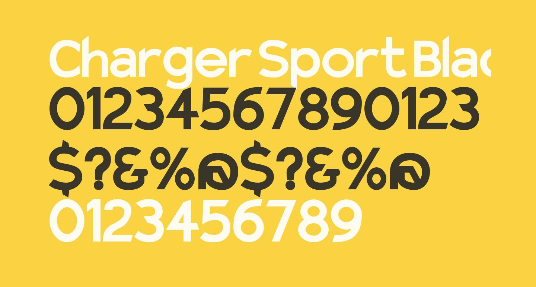 Charger Sport Black