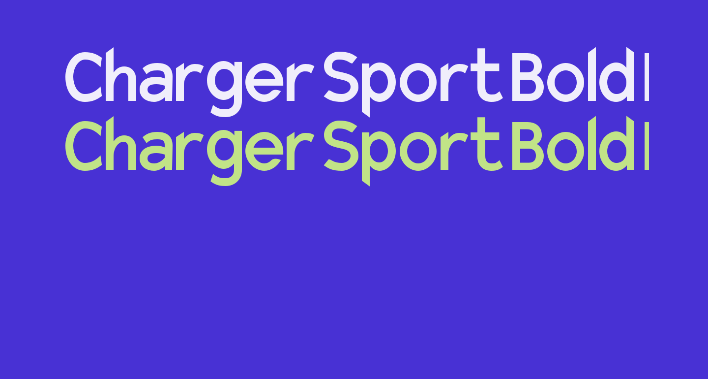 Charger Sport Bold Narrow