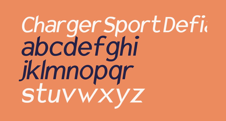 Charger Sport Defiance Bold Narrow Oblique