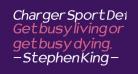 Charger Sport Defiance Bold Oblique