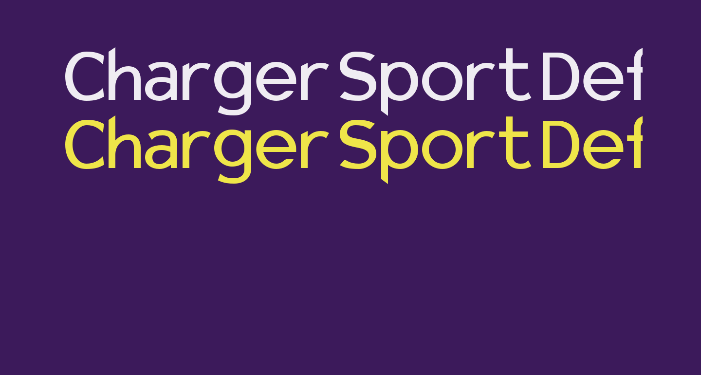 Charger Sport Defiance Bold