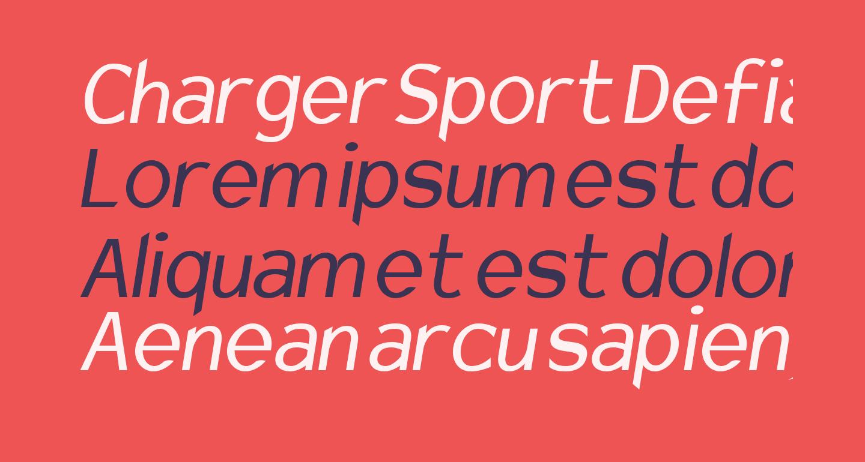 Charger Sport Defiance Narrow Oblique