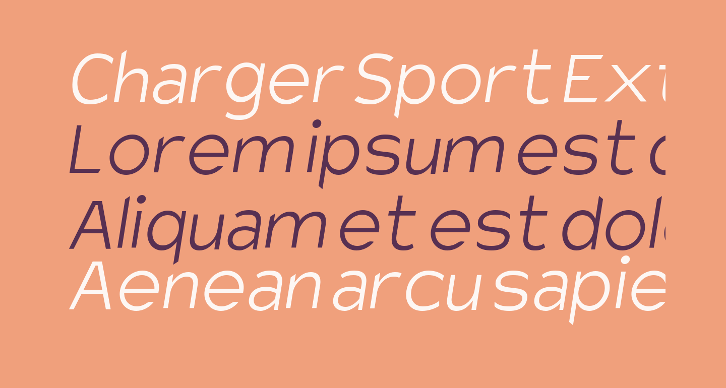 Charger Sport Extralight Oblique