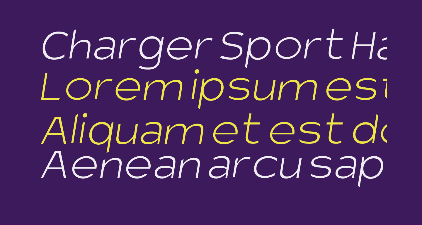 Charger Sport Hairline Extended Oblique