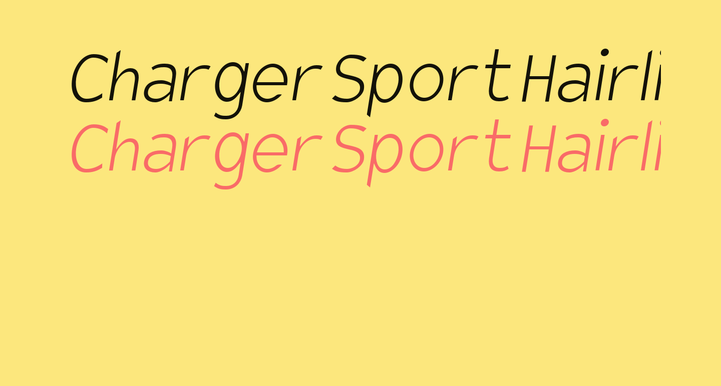 Charger Sport Hairline Narrow Oblique