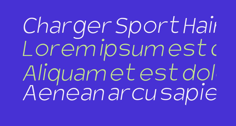 Charger Sport Hairline Oblique