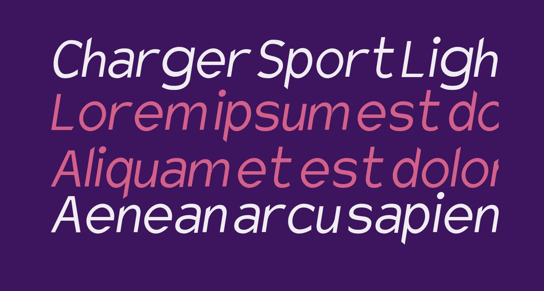 Charger Sport Light Narrow Oblique