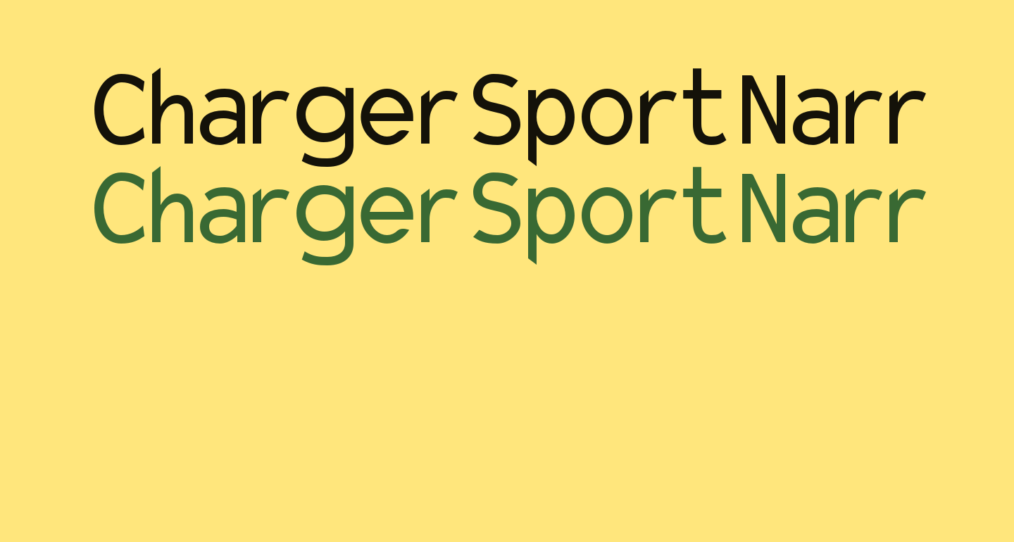 Charger Sport Narrow