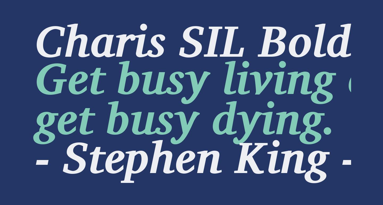 Charis SIL Bold Italic