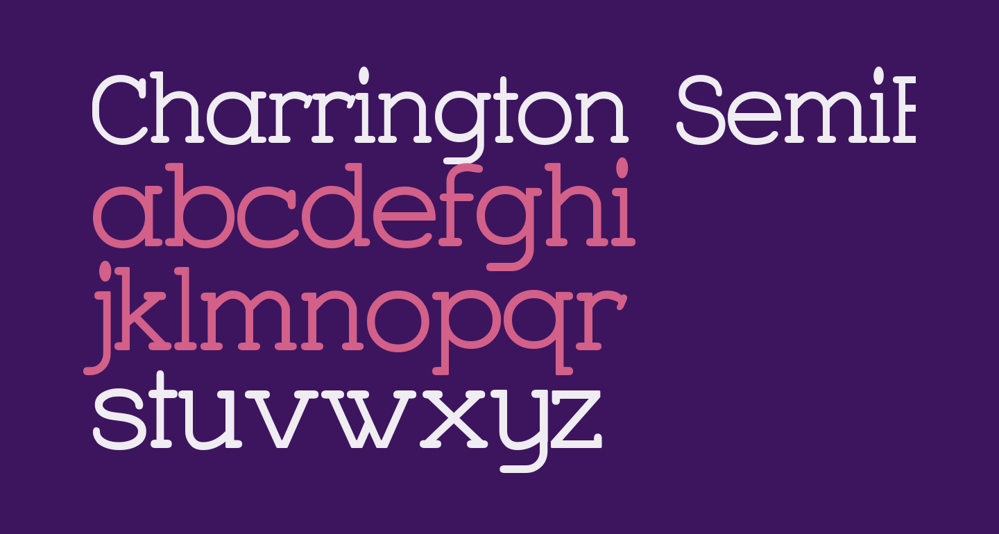 Charrington SemiBold