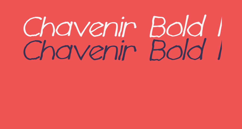 Chavenir Bold Italic