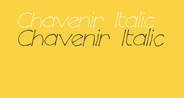Chavenir Italic