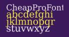 CheapProFonts Serif Pro Regular