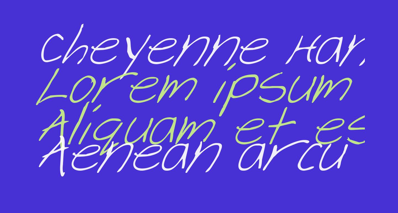 Cheyenne Hand Italic