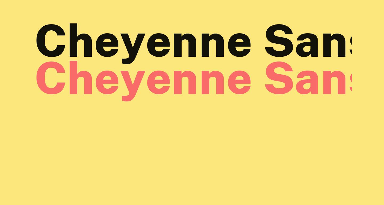Cheyenne Sans ExtraBold