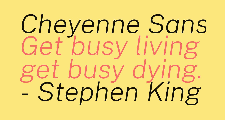 Cheyenne Sans ExtraLight Italic