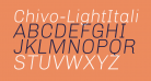 Chivo-LightItalic