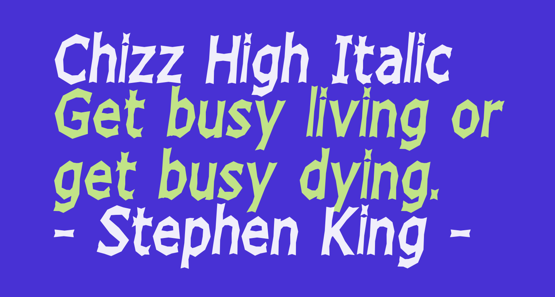 Chizz High Italic