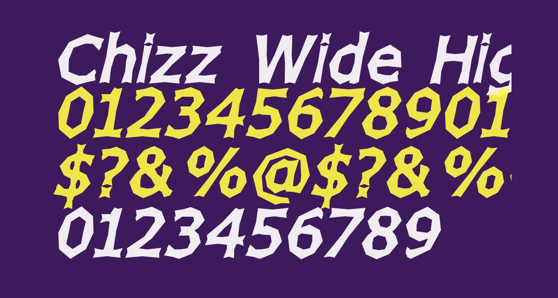 Chizz Wide High Italic