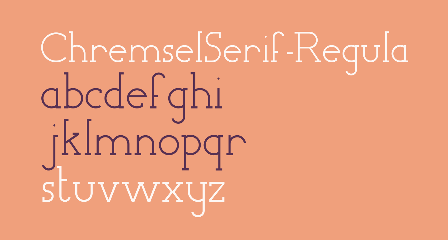 ChremselSerif-Regular