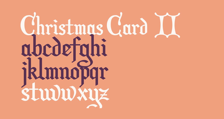 Christmas Card  II