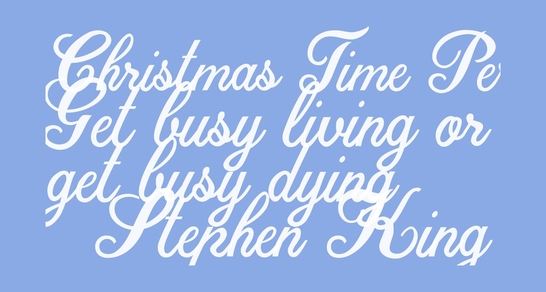 Christmas Time Personal Use Regular