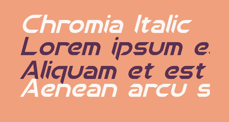 Chromia Italic