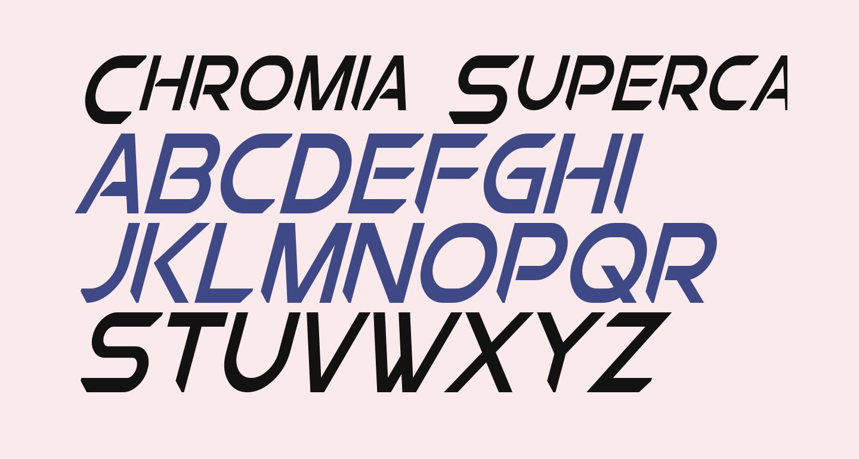 Chromia Supercap Condensed Italic