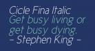 Cicle Fina Italic