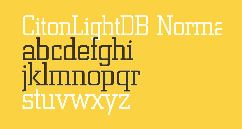 CitonLightDB Normal