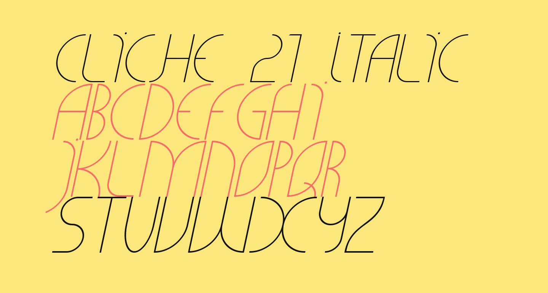 CLiCHE 21 Italic