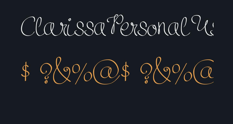 ClarissaPersonalUse