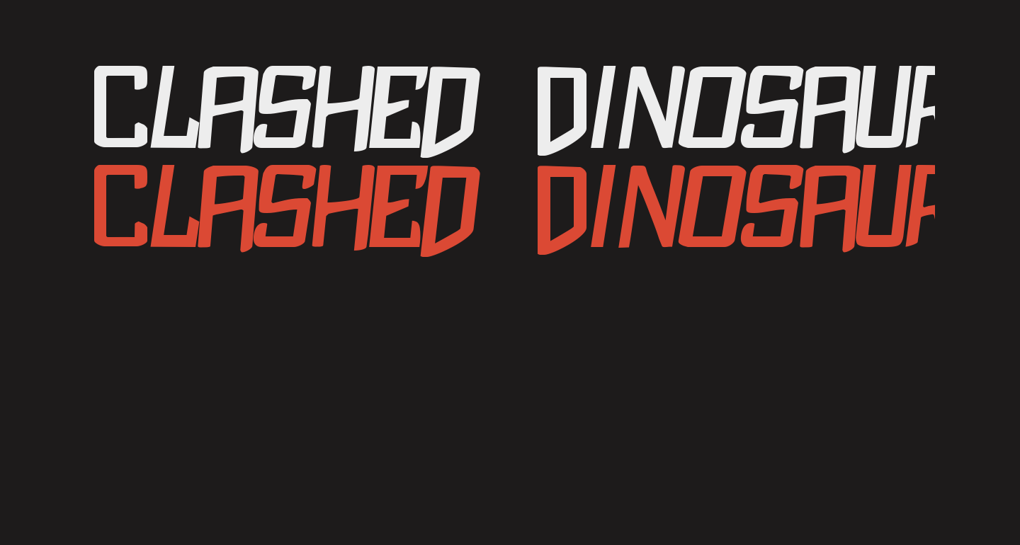 Clashed Dinosaurs