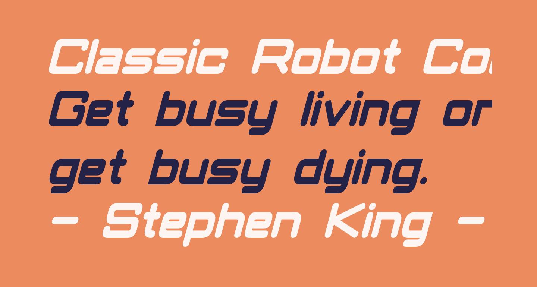 Classic Robot Condensed Bold Italic