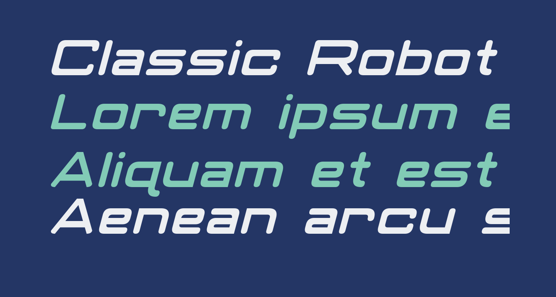 Classic Robot Italic