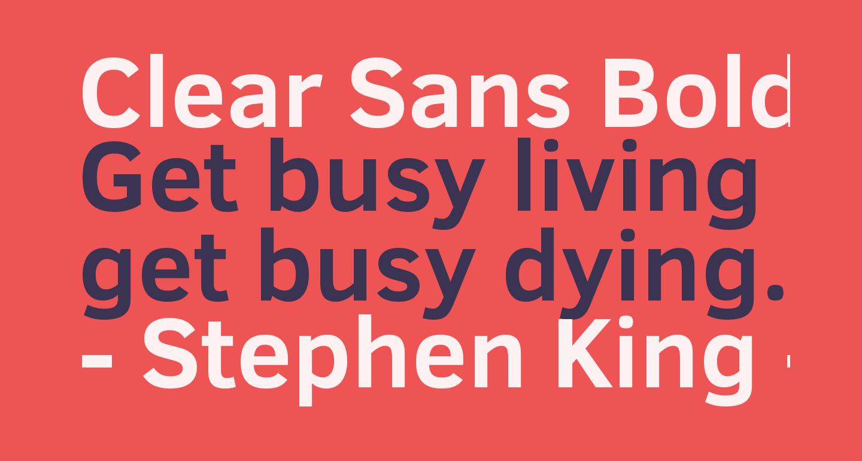 Clear Sans Bold