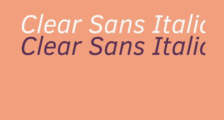 Clear Sans Italic