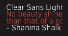 Clear Sans Light