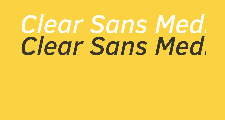 Clear Sans Medium Italic