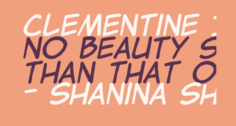 Clementine Italic