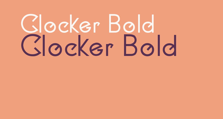 Clocker Bold