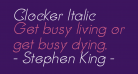 Clocker Italic