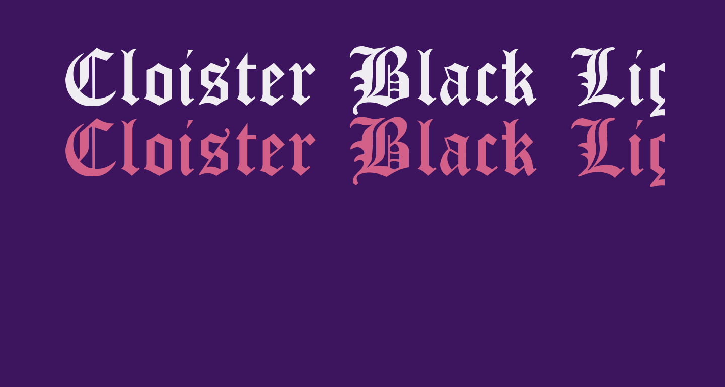 Cloister Black Light