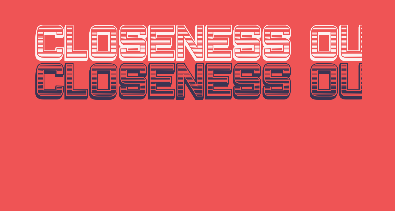 Closeness Outline Gradient Regular