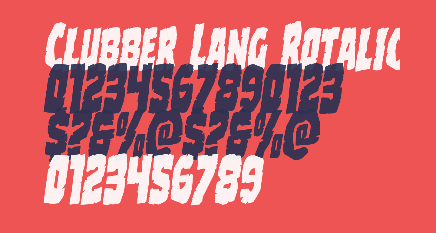 Clubber Lang Rotalic