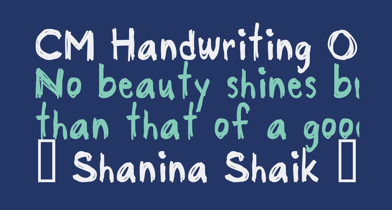 CM Handwriting One