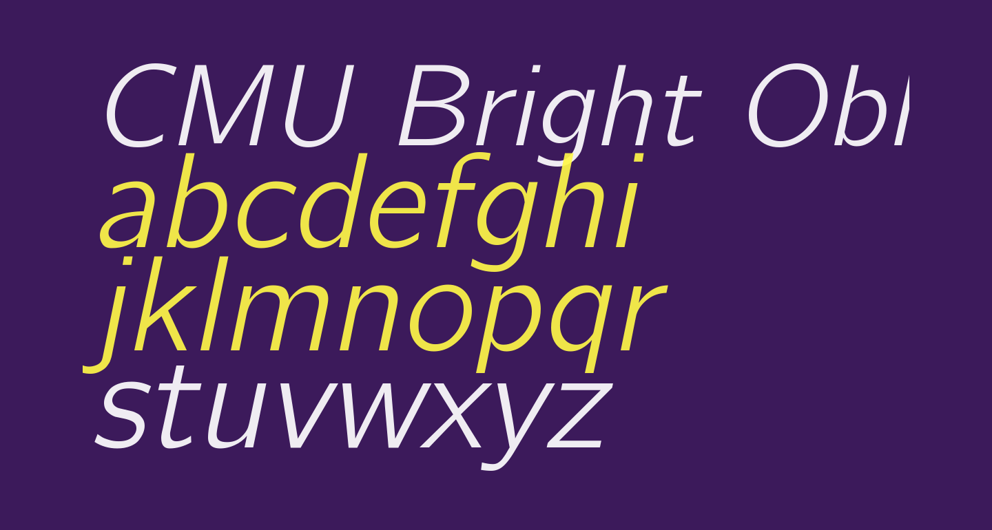 CMU Bright Oblique