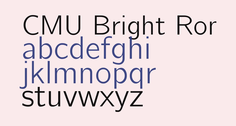 CMU Bright Roman