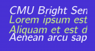 CMU Bright SemiBoldOblique