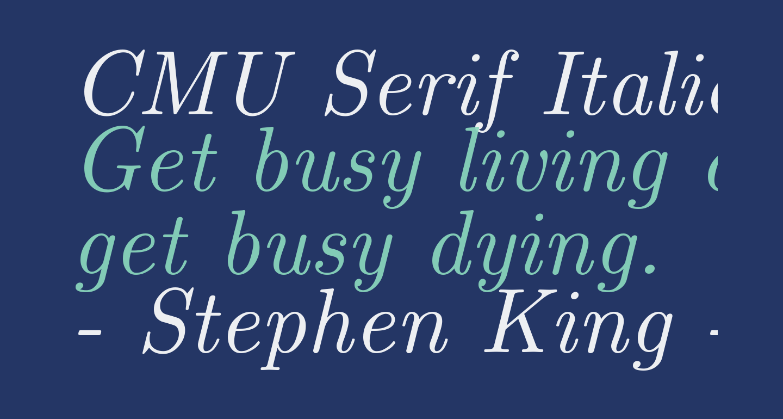 CMU Serif Italic